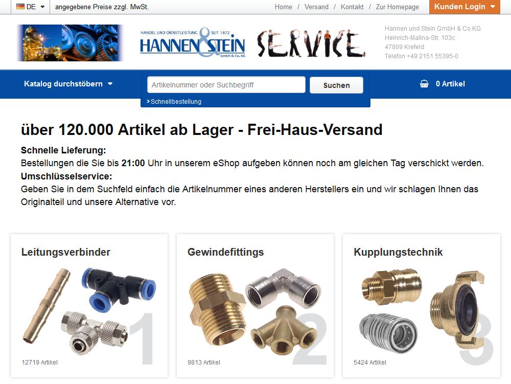 eShop Hannen und Stein